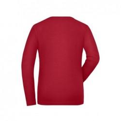 Koszulka robocza z długim rękawem ze streczu ekologicznego damska - SOLID -