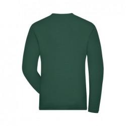 Koszulka robocza z długim rękawem ze streczu ekologicznego męska - SOLID -